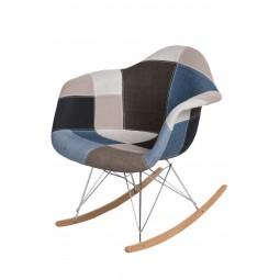 Krzesło P018 RAR patchwork nieb. - szary