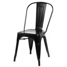 Krzesło Paris czarne inspirowane Tolix