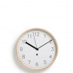 Zegar Rimwood biały/naturalny