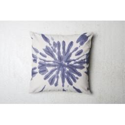 UNC bawełniana poduszka biała/indigo