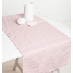 UNC bieżnik kuchenny lniany różowy