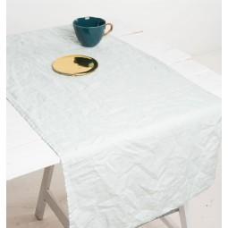 UNC bieżnik kuchenny lniany seledynowy