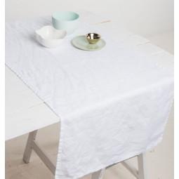 UNC bieżnik kuchenny lniany biały