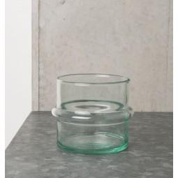 UNC świecznik ze szkła z recyklingu