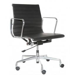 Fotel biurowy CH1171T czarna skóra,chrom