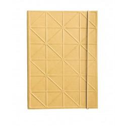 UNC notatanik złoty 3d