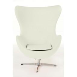 Fotel Jajo biały kaszmir K3 Premium