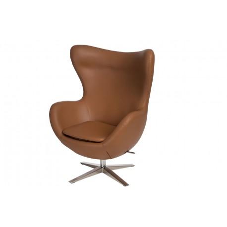 Fotel Jajo Soft skóra ekologiczna 523 brązowy jasny
