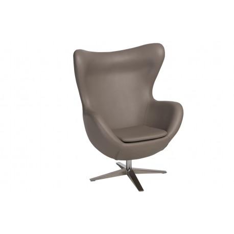 Fotel Jajo Soft skóra ekologiczna 533 khaki