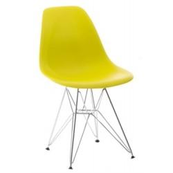 Krzesło P016 PP inspirowane DSR żółte outlet