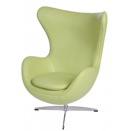 Fotel Jajo zielona skóra 10 Premium