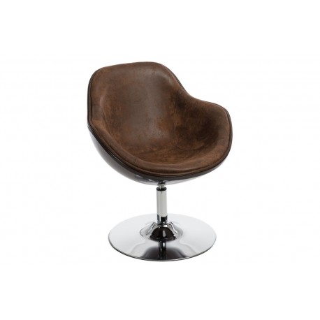 Fotel Pezzo K- brązowy, S-vintage 938