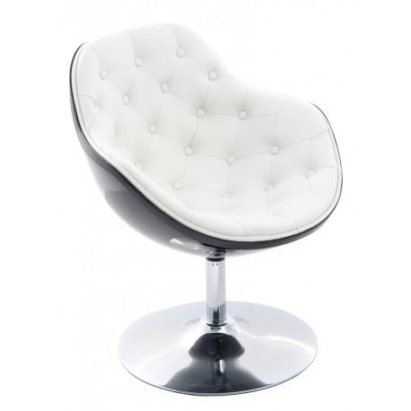 Fotel Pezzo piko. K-czarny, S- białe 906