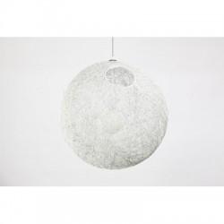 Lampa wisząca MOON 40 cm biała outlet