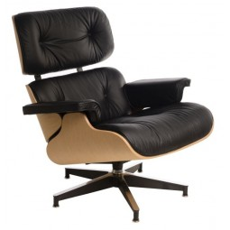 Fotel Vip czarny/natural oak/standard ba se
