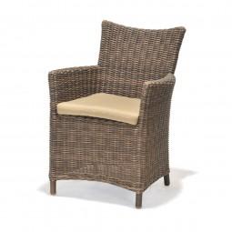 Fotel z poduszką Kolanta PDS brązowy