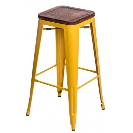 Hoker Paris Wood 75cm żółty sosna orzech