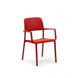 Krzesło Bora z podłokietnikami czerwone