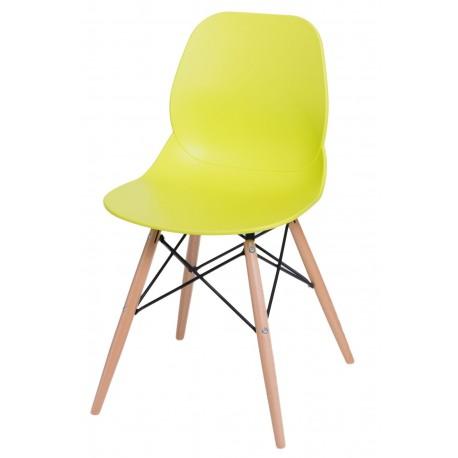 Krzesło Layer DSW limonkowe