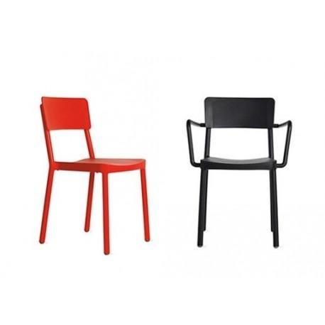 Krzesło Lisboa czerwone