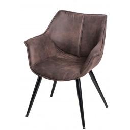 Krzesło Lord brązowe ciemne 1025