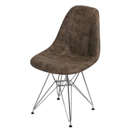 Krzesło P016 DSR Pico brązowe ciemne