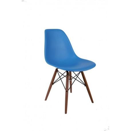 Krzesło P016W PP niebieskie/dark