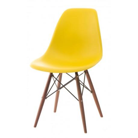 Krzesło P016W PP żółte/dark