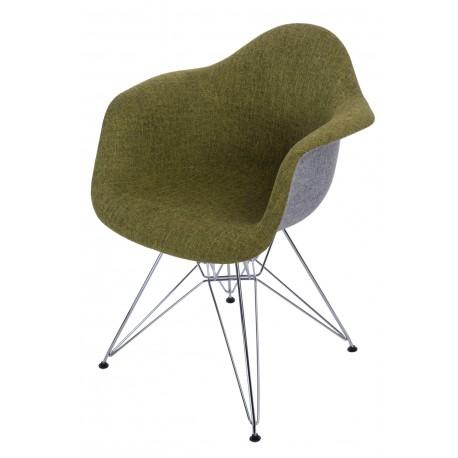 Krzesło P018 DAR Duo zielono - szare