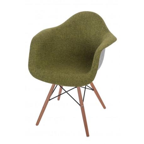 Krzesło P018 DAW Duo zielono - szary
