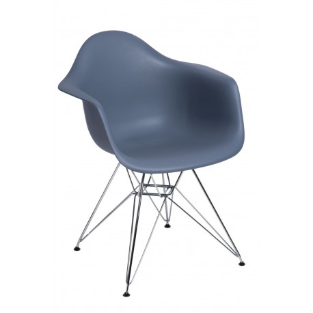 Krzesło P018 PP dark grey, chrom nogi HF