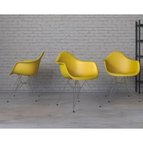 Krzesło P018 PP oliwkowe, chrom nogi