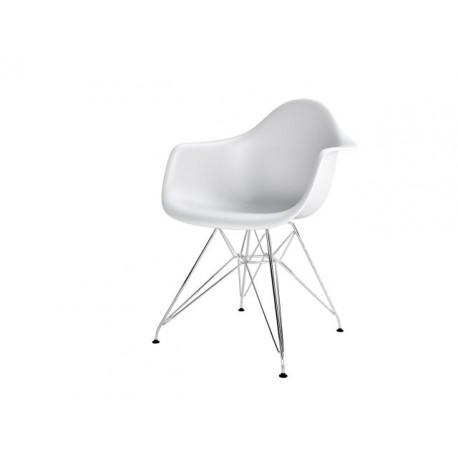 Krzesło P018PP białe, chrom nogi HF