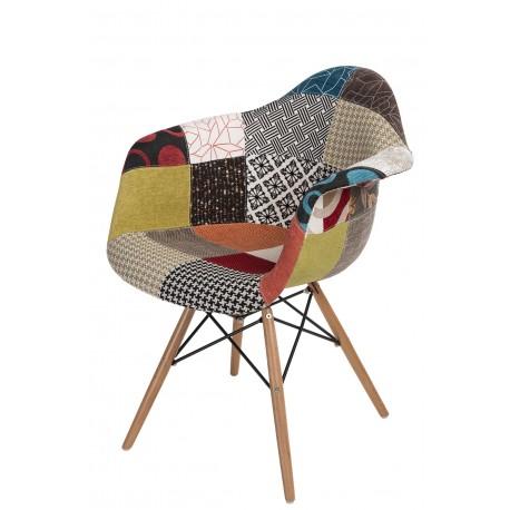 Krzesło P018W patch work, drewniane nogi