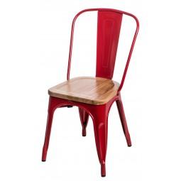 Krzesło Paris Wood czerwone sosna natura