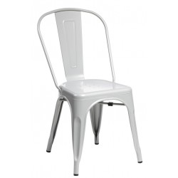 Krzesło Paris szare inspirowane Tolix