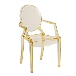 Krzesło dziecięce Royal Jr. żółty transparent