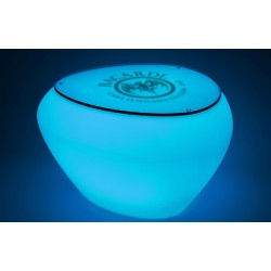 Stolik/ podnóżek TEASER LED GLASS TOP + branding