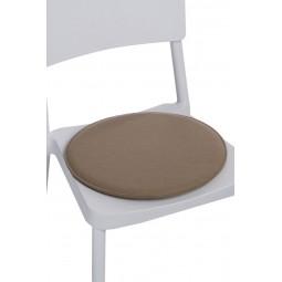 Poduszka na krzesło okrągła beżowa