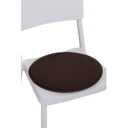 Poduszka na krzesło okrągła brązowa
