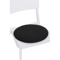 Poduszka na krzesło okrągła czarna