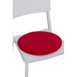 Poduszka na krzesło okrągła czerwona