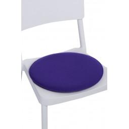 Poduszka na krzesło okrągła fioletowa