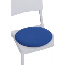 Poduszka na krzesło okrągła niebieska