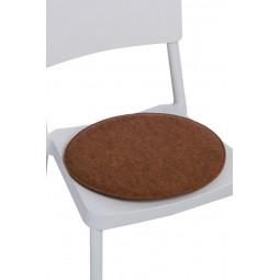 Poduszka na krzesło okrągła pom. melanż