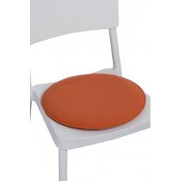 Poduszka na krzesło okrągła pomarańczowa