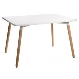 Stół Copine blat biały 120x80 cm