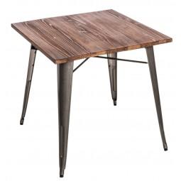 Stół Paris Wood metal sosna orzech