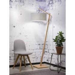 Lampa podlogowa Andes,abażur w kolorze jasnym szarym LG, rozmiar 47x23