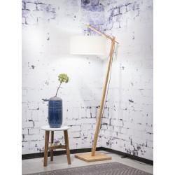 Lampa podłogowa Andes, abażur w kolorze białym W, rozmiar 47x23